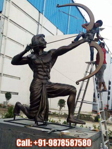 Arjuna During Swayamvar Statue