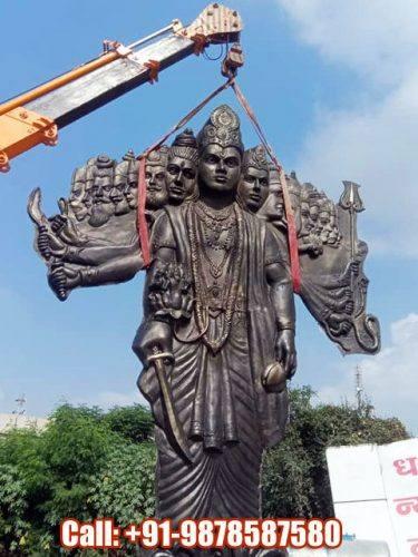 Installing Statue of Krishna Virat Roop Gita Updesh