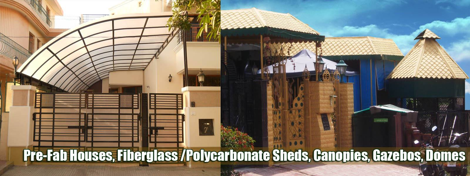 Fiberglass and Polycarbonate Structures