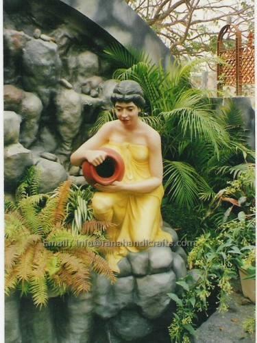 Garden Waterfall Lady Sculpture