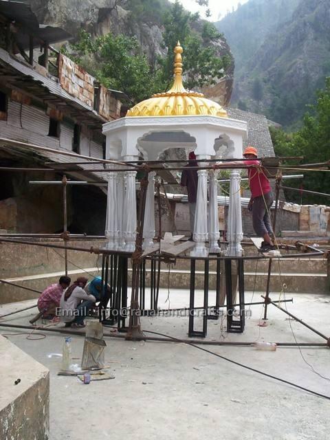 Installing Palki Sahib at Manikaran Sahib