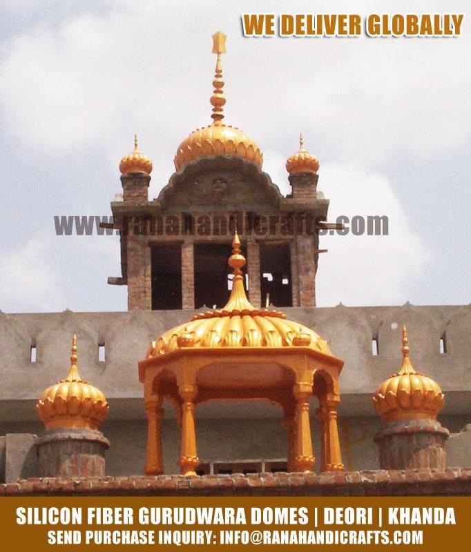 Gurudwara Domes, Deori, Khanda