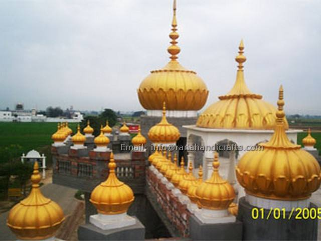 Gurdwara Domes FiberGlass with sizes 1ft, 3ft, 6ft and 8ft