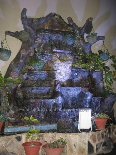 outdoor waterfall fiberglass