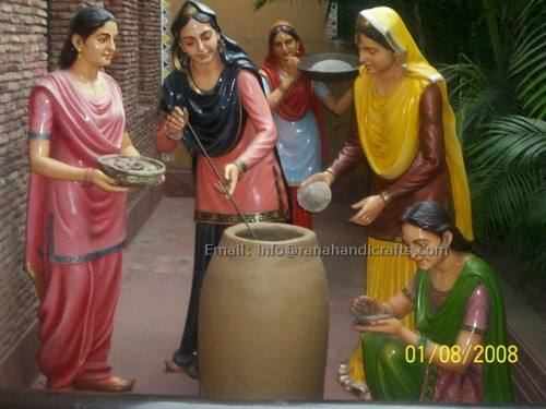 punjabi ladies cooking in village
