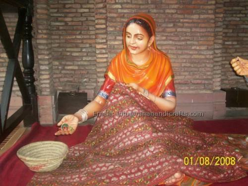 punjabi lady working sculpture