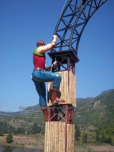 climbing man sculpture