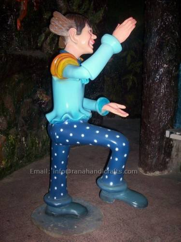boy fiber sculpture