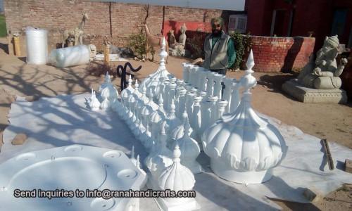 Modular Palki Sahib with Domes and Pillars ready to be exported to USA