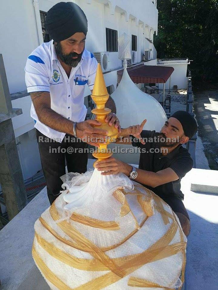 Unpacking Domes for Gurdwara Sahib Kampar Perak (Malaysia)