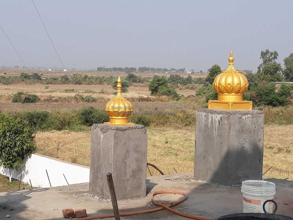 Installation of Small Side Domes for Gurdwara Sahib