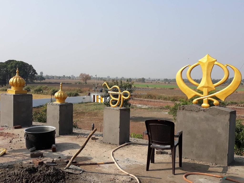 Fiberglass Khanda, Fiberglass Ikonkar, Fiberglass small domes