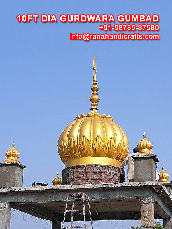 10ft Dia Gurdwara Dome (Gumbad)
