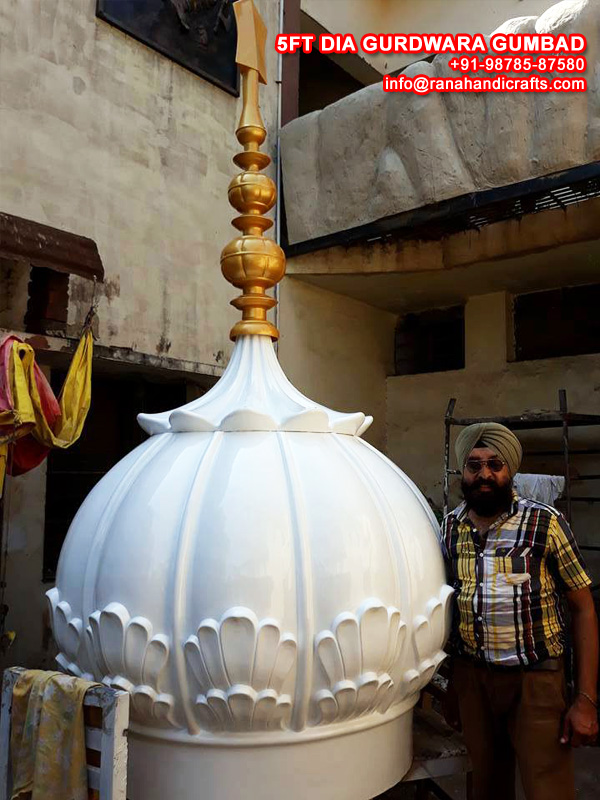 Sarbjit Singh MD with Gurdwara Dome (Gumbad)