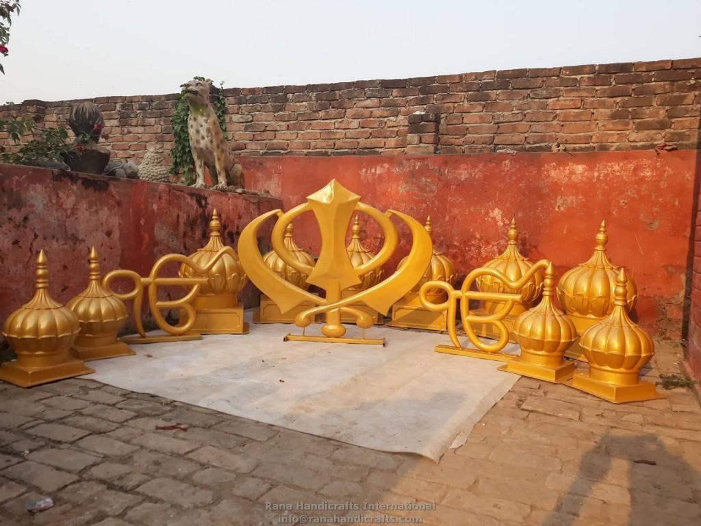 Fiberglass Khanda, Ikonkar Signage, Domes