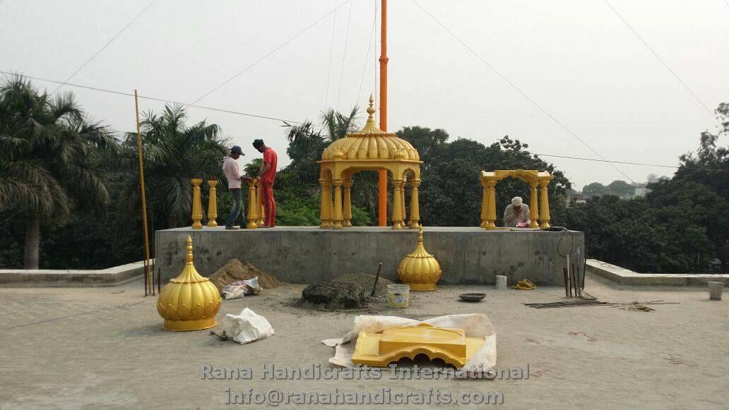 Installing Palki Sahib