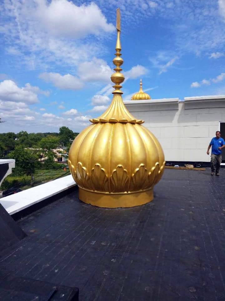 Gurdwara Dome Installed at Guru Gobind Singh Center - New York