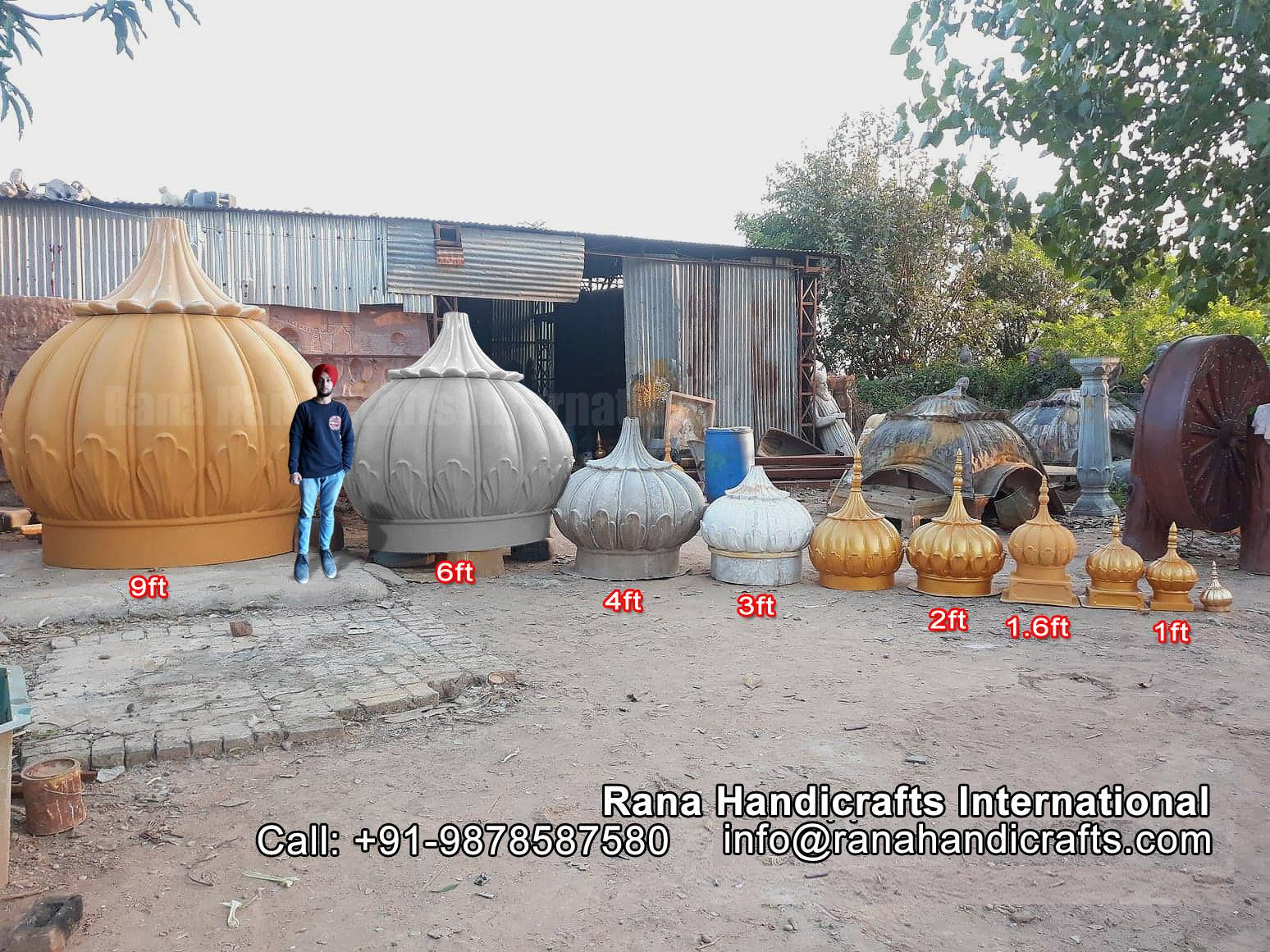 FRP Gurdwara Domes Various Sizes