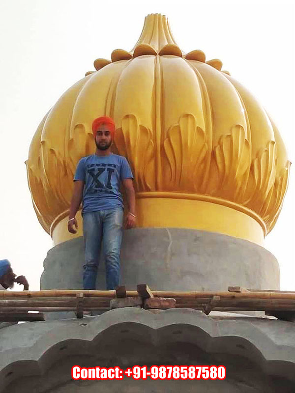 10ft Gurdwara Dome Installed