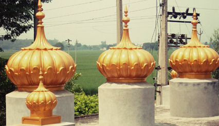 Gurdwara Domes Installed