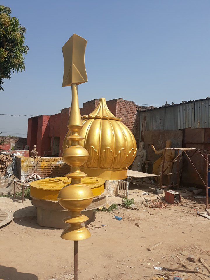 10ft Gurdwara Dome Prepared for South Africa