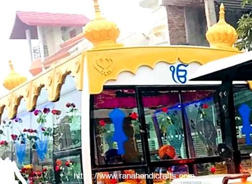 Palki Sahib for Nagar Kirtan Bus