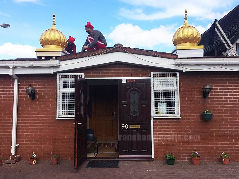 Domes at Gurdwara Sahib in Liverpool (UK)