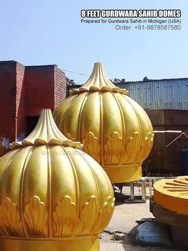 8 Feet Gurdwara Domes for Michigan USA