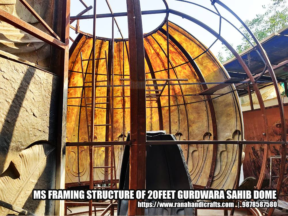 MS Framing Structure of 20Feet Gurdwara Sahib Dome