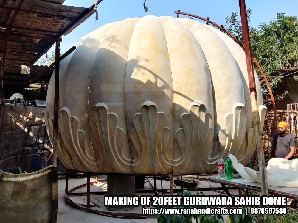 Making 20ft Gurdwara Sahib Dome for Michigan (USA)