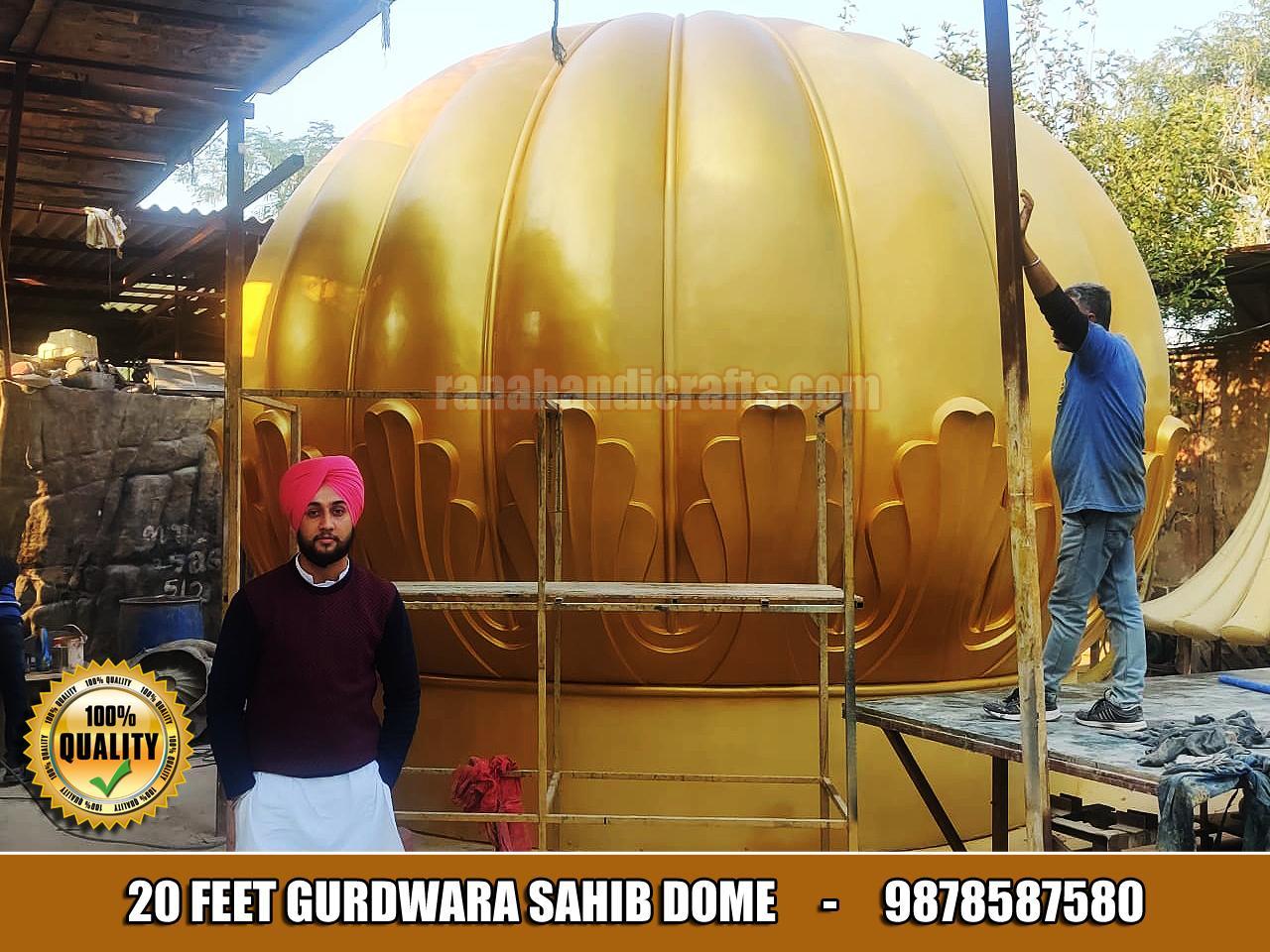 20 Feet Gurdwara Sahib Dome