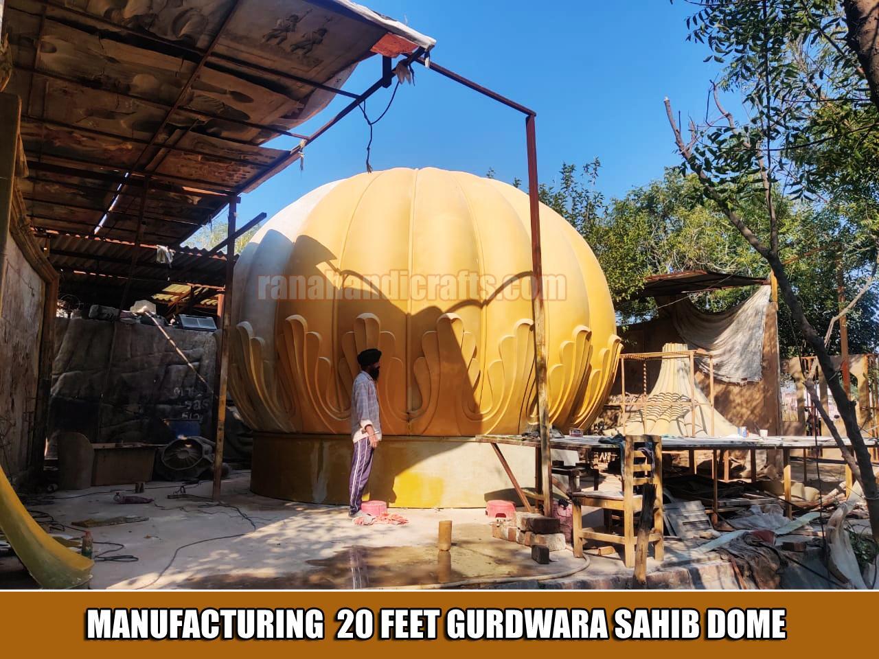 Manufacturing 20ft Gurdwara Sahib Dome