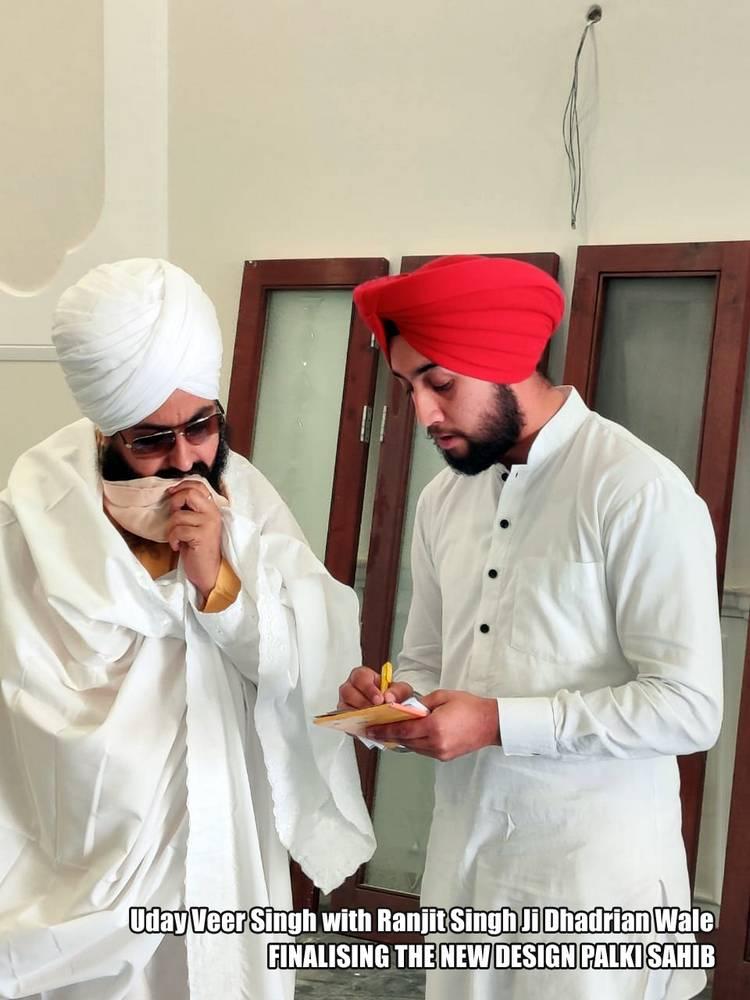Uday Veer Singh with Ranjit Singh Ji Dhadrian Wale
