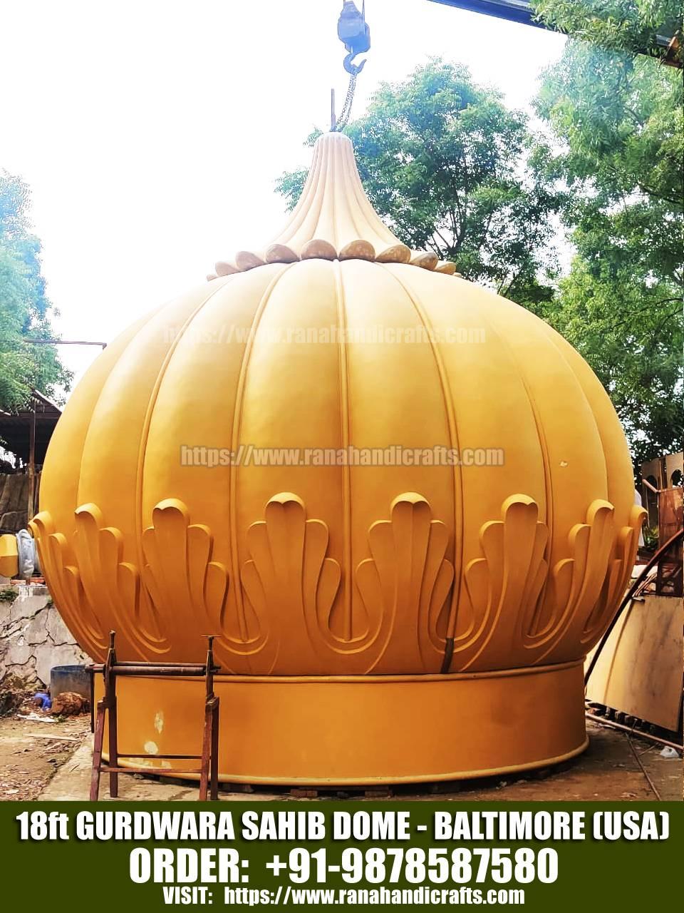 18ft Gurdwara Sahib Dome for Baltimore - USA