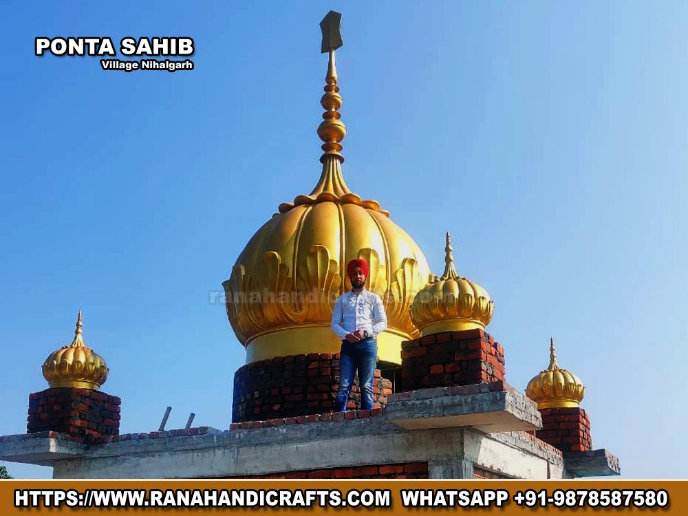 Gurdwara Dome Installed at Nihalgarh (Paonta Sahib)